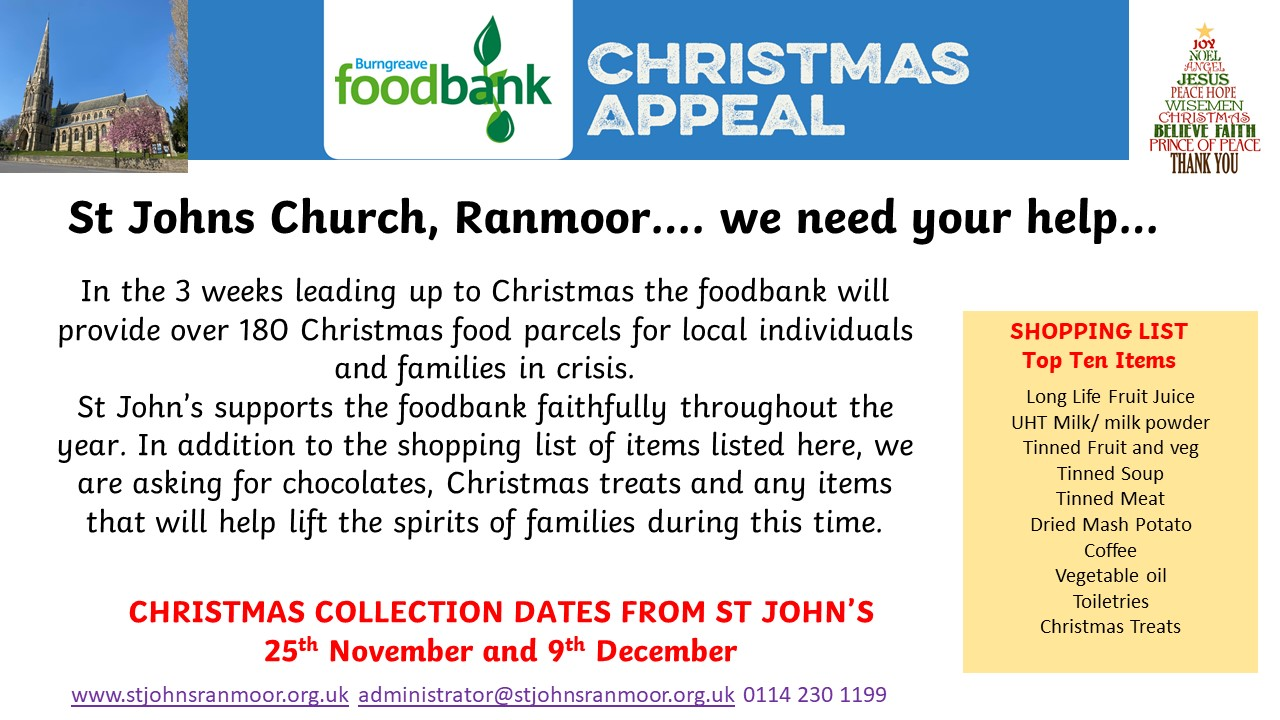 Foodbank Appeal Christmas 2020