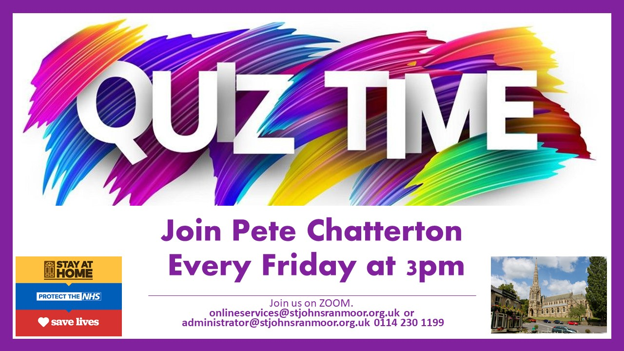 Pete Quiz every Friday